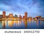 view of inner harbor area in... | Shutterstock . vector #340412750