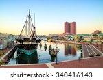 view of inner harbor area in... | Shutterstock . vector #340416143