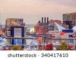 view of inner harbor area in... | Shutterstock . vector #340417610