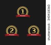 golden laurel wreath awards... | Shutterstock .eps vector #340418360