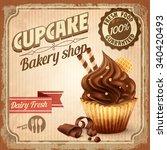 Banner Cupcake Vintage Chocolate