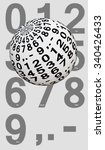 white ball with digits | Shutterstock . vector #340426433
