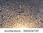glass covered with frost on a... | Shutterstock . vector #340426739