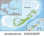 bermuda is a british overseas... | Shutterstock .eps vector #340433009