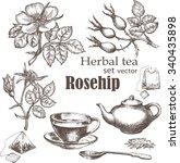 Herbal Tea  Set. Rose Hip Tea....
