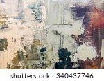 grunge oil painting.  oil... | Shutterstock . vector #340437746