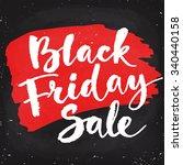black friday sale calligraphy....   Shutterstock .eps vector #340440158