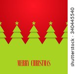 vintage greeting card with... | Shutterstock .eps vector #340445540