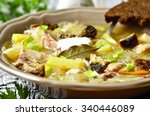 russian sour cabbage soup ... | Shutterstock . vector #340446089