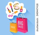 vector flat illustration sale... | Shutterstock .eps vector #340447418