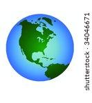 earth vector | Shutterstock .eps vector #34046671