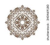 hand drawn henna tattoo mandala.... | Shutterstock . vector #340469180
