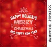 christmas typographic... | Shutterstock .eps vector #340469600