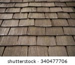 Old Wooden Shingles Roof.