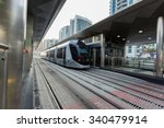 dubai  uae   oct 2  new tram... | Shutterstock . vector #340479914