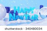 Happy New Year Winter Landscap...