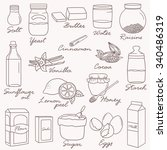 hand drawn collection of... | Shutterstock .eps vector #340486319