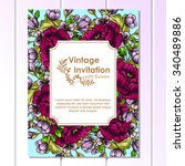 vintage delicate invitation... | Shutterstock .eps vector #340489886