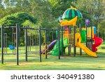 children playground park in the ... | Shutterstock . vector #340491380