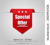 illustration of special offer... | Shutterstock .eps vector #340492436