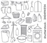 hand drawn collection of... | Shutterstock .eps vector #340494554