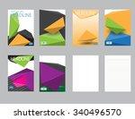 design cover paper report.... | Shutterstock .eps vector #340496570