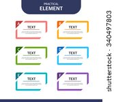 web element design set | Shutterstock .eps vector #340497803