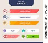 web element design set | Shutterstock .eps vector #340497809