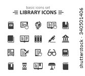 library icons. | Shutterstock .eps vector #340501406