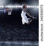 basketball player scoring an... | Shutterstock . vector #340508573