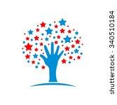 hand stars  dream care reaching | Shutterstock .eps vector #340510184