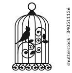 the birdcages. vector. | Shutterstock .eps vector #340511126