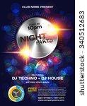 vector night party invitation... | Shutterstock .eps vector #340512683