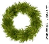 christmas wreath isolated | Shutterstock .eps vector #340515794
