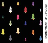 background with christmas trees | Shutterstock .eps vector #340542050