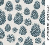 pine cones pattern. christmas...   Shutterstock .eps vector #340546184