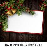 christmas card with fir... | Shutterstock .eps vector #340546754