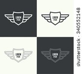 badge and shield with wings.... | Shutterstock .eps vector #340552148