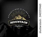 mountain logo emblem. adventure ... | Shutterstock .eps vector #340555460