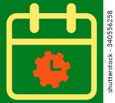 time service date vector icon....