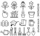 gardening icons set.vector | Shutterstock .eps vector #340560248
