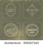 vintage label set   Shutterstock .eps vector #340567163