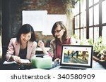 the blog browser technology...   Shutterstock . vector #340580909