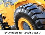 Large Yellow Bulldozer With A...