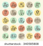 set of isolated universal... | Shutterstock .eps vector #340585808