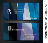 stylish business cards with... | Shutterstock .eps vector #340588073