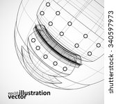 abstract technology  vector... | Shutterstock .eps vector #340597973