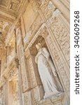 Celsus Library Facade From Low...