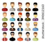set of flat icons set with men. ... | Shutterstock .eps vector #340612163