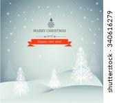 vector illustration or greeting ... | Shutterstock .eps vector #340616279